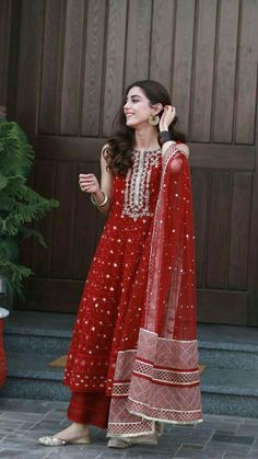 Designer dresses indian - mayaali in Norway wearing, Outfit by Indian Bridal Outfits, Pakistani Outfits, Pakistani Long Dresses, Beautiful Pakistani Dresses, Pakistani Fashion Casual, Indian Designer Suits, Indian Designer Clothes, Designer Suits For Wedding, Ethnic Outfits