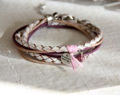Leder Wickelarmbänder - Wickelarmband ★ Flügel ★ Leder & Seide ★ Ar... - ein Designerstück von greenCarry bei DaWanda