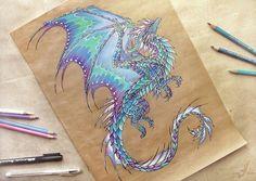 Dragon of the Northetn Lights tattoo design Alivia Alcedo Russia