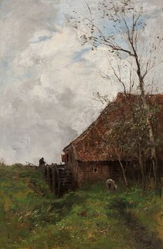 Anton MAUVE (1838–1888, Dutch painter): The Water Mill, c. 1880. Milwaukee Art Museum.