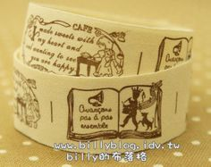 V191 - cotton tape/ sewing tape/ Ribbon - cotton - story book