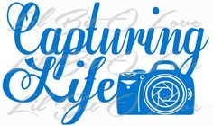 Capturing Life Vinyl Decal Camera Photographer Sticker Car Vehicle | LilBitOLove - Housewares on ArtFire