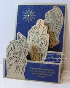 Holy Triptych Stairstep Card by Card Shark - Cards and Paper Crafts at Splitcoaststampers