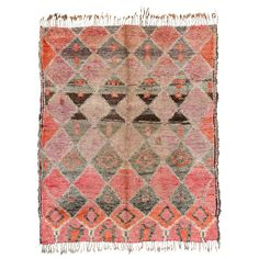 Vintage Moroccan Beni M'Guild Carpet at 1stdibs