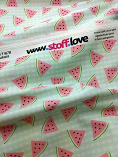 Ein bisschen Melone Heute mal kariert? Habt ihr auch Melonen Lieblingsstoffe und was Tolles draus genäht?