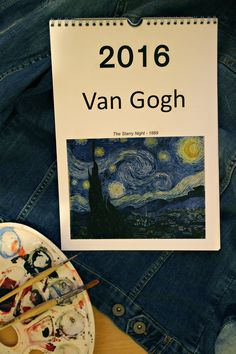 Made a pretty Van Gogh calendar for this year and The Starry Night is obviously the title page. I'll try to show you every month this year! #art #vangogh
