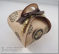 Elegant Gold Stamping with the Curvy Keepsake Box for a Curvy Keepsake class by mail! | Northwest Stamper