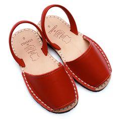 avarca sandals red