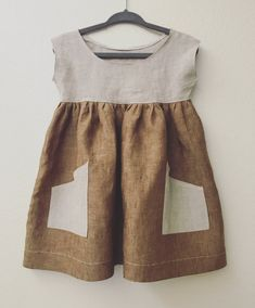 Hey, I found this really awesome Etsy listing at https://www.etsy.com/listing/465691108/linen-baby-dress-size-12-18m-two-tone