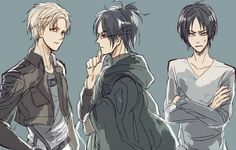 Nanaba, Hanji, and Ilse or maybe ymir