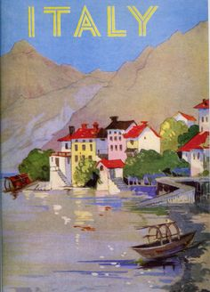 Vintage Travel Poster  Italy circa 1932 Seaside by wifecruella, $6.00