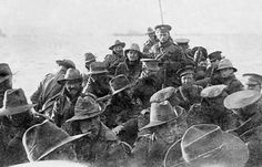 Company about to land at Anzac Cove.