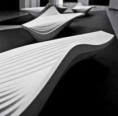 Serac bench, de Zaha Hadid