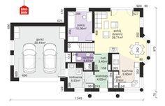 Dom przy Przyjaznej 8 - rzut parteru Floor Plans, Home, Two Story Houses, Dots, Ad Home, Homes, Haus, Floor Plan Drawing, House Floor Plans