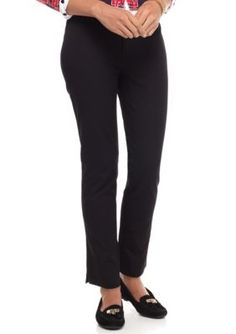 Crown  Ivy  True Black Flat Front Woven Pant