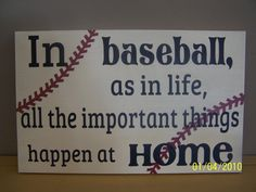 Baseball Wood Sign by WordArtTreasures on Etsy, $25.00