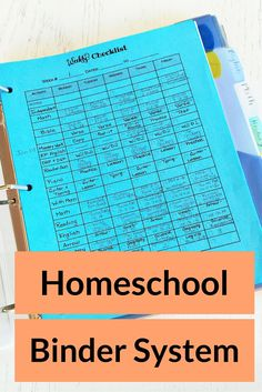 This binder system keeps all of our papers and work together as the homeschool year progresses. Lessons plans are all in one place and it doubles as a portfolio.