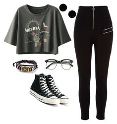 """""""Untitled #155"""" by paolaporoj on Polyvore featuring River Island, Converse and MM6 Maison Margiela"""