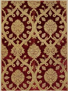 Furnishing fabric Place of origin: Bursa (city), Turkey (probably, made)  Turkey (made) Date: late 16th century Materials and Techniques: Silk velvet Museum number: 1357-1877   V&A