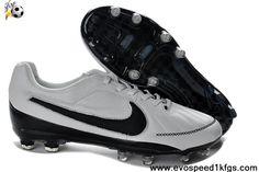 Best Gift Nike Tiempo Legend V FG Black White Latest Now