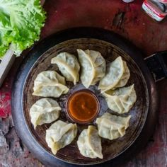 Delicious vegetable dumplings with step by step pictures on how to make them at home.