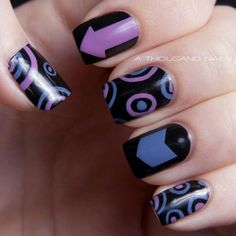 Hawkeye nails. This is really cool