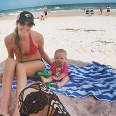 One more from yesterday at the beach with this little happy munchkin!  #BEASLEYstAugustine2015 #mollygracebeasley #lifewithmollygrace #baby #babygirl #beachbabe #beach #vacation #staugustine by christybeasley #staugustinebuzz #staugustine #florida #travel #vacation