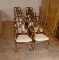 10 English Queen Anne Walnut Dining Chairs Ann Chair Walnut Dining Chairs, Antique Dining Chairs, Walnut Chair, Queen Anne Chair, Chippendale Chairs, Dining Set, Victorian, English, Antiques