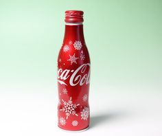 Coca Cola Coke Japan Red Aluminium Bottle 2016 Winter Limited Edition New Full #CocaCola