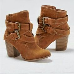 Womens Mid Calf Ankle Boots Low Mid Block Heels Buckle Casual Booties Shoes New Buckle Ankle Boots, Leather Ankle Boots, Belt Buckle, Suede Leather, Ankle Booties, Ankle Shoes, Ladies Ankle Boots, Suede Shoes, Brown Ankle Boots