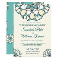 Eiffel tower paris custom sweet 16 invitation sweet 16 invitations elegant teal mandala indian wedding invitation cyo customize design idea do it yourself solutioingenieria Images