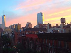 View of #Soho #Downtown #NYC #WorldTrade from my Greenwich Village balcony