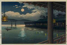 "Tsuchiya Koitsu ""Summer Moon at Miyajima "" (1936)"