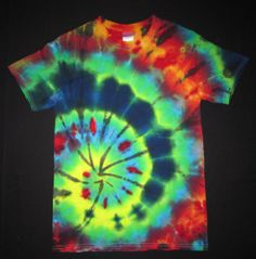 Psychedelic Sprial Tie Dye TShirt Fits Men's by PsychedelicTieDyes, $25.00