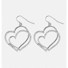 Avenue Layered Stone Heart Drop Earrings ($4) ❤ liked on Polyvore featuring jewelry, earrings, pierce, plus size, silver, layered earrings, stone earrings, earring jewelry, hook earrings and imitation jewellery