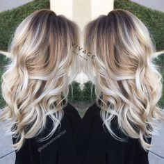 Bright blonde balayage hairstyle More