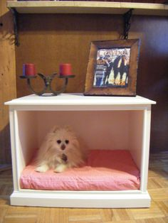 My first up-cycled end table-dog bed...for sale