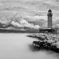 lighthouse in Patra (Greece)