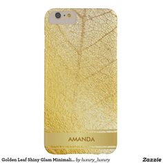 Golden Leaf Shiny Glam Minimalism Yellow