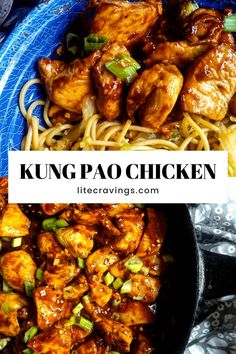 Kung Pao Chicken is a quick and easy stir fry with the perfect balance between spicy salty and sweet flavors. The best Chinese takeout at home! Healthy Menu, Healthy Crockpot Recipes, Easy Chicken Recipes, Asian Recipes, Cooking Recipes, Kung Pao Chicken Recipe Easy, Ww Recipes, Recipies, Baked Chicken