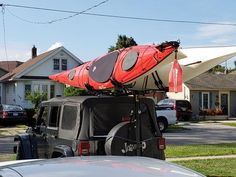 """Hitchmount-Rack with two Yaks in """"O Canada"""" – Mission Systems LLC Jeep Racks, Kayak Rack, O Canada, Great Pic, Jeep Stuff, Meatless Monday, Adventure Awaits, Jeep Wrangler, Jeeps"""