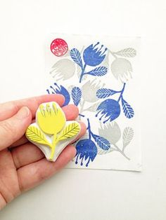 flower hand carved rubber stamp. for spring, woodland inspired scrapbooking,etc. each rubber stamp is designed, hand drawn and hand carved by