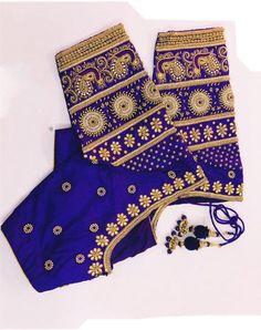 Wedding Saree Blouse Designs, Silk Saree Blouse Designs, Fancy Blouse Designs, Mirror Work Blouse Design, Maggam Work Designs, Embroidery Neck Designs, Designer Blouse Patterns, Golden Color, Latest Maggam Work Blouses
