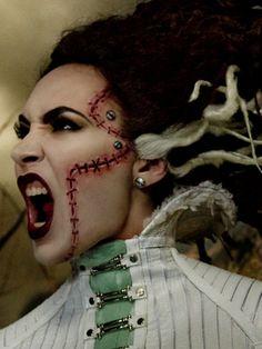 MAC Halloween makeup how-to: Bride of Frankenstein.