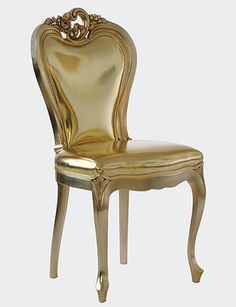 Versace Home all gold chair