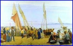 P.S. Krøyer: Morgen ved Hornbæk. Fiskerne kommer i land, 1875.
