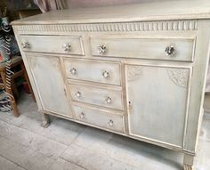Painted in annie sloan old white distressed and dark waxed