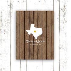 Texas Wedding Guest Book  Rustic Guest Book by MooseberryPrintShop, $38.00