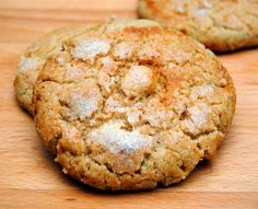 Perrunillas de Almendra. Coconut Cookies, Flan, Sin Gluten, Yema, Sweet Recipes, Donuts, Muffin, Food And Drink, Bread