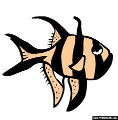 banggai cardinalfish coloring page